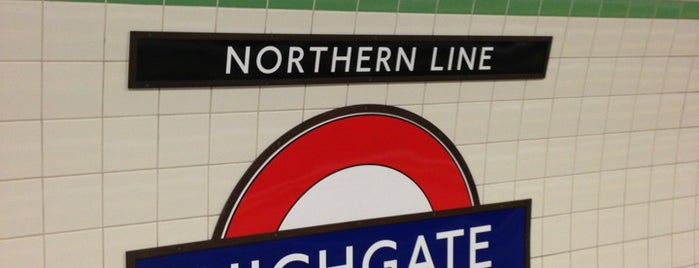 Highgate London Underground Station is one of Railway stations visited.