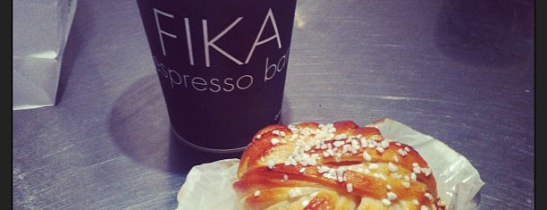 FIKA Espresso Bar is one of Manhattan's Best Coffee by Subway Stop.