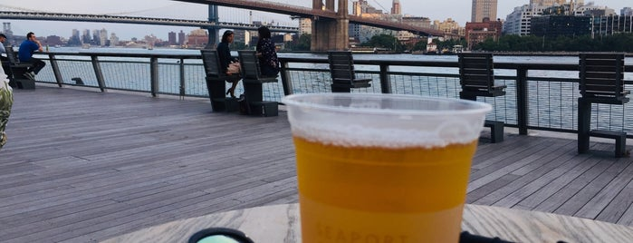 The Heineken River Lounge at Pier 17 is one of NY.