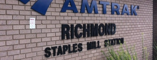 Richmond - Staples Mill Road Amtrak Station (RVR) is one of Virginia/Washington D.C..