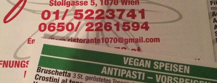 Ristorante Fiore is one of vegan (friendly) vienna.