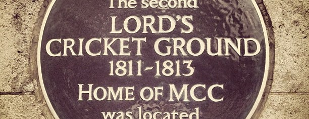 Lord's Cricket Ground (MCC) is one of Hand Drawn Map of London.