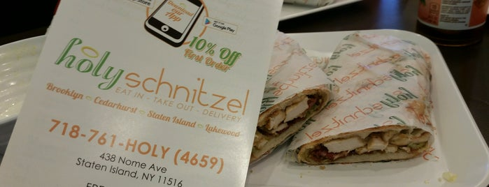 Holy Schnitzel is one of Real Cheap Eats NYC.