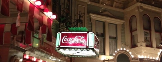 Refreshment Corner hosted by Coca-Cola is one of Disneyland MUST Eats!.
