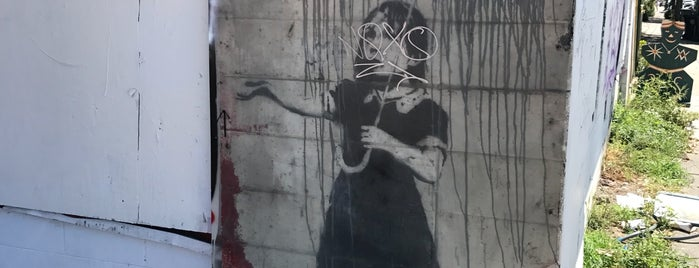 Banksy's Rain Girl is one of New Orleans.