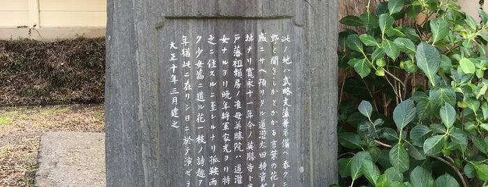 太田道灌邸宅跡 is one of 中世・近世の史跡.