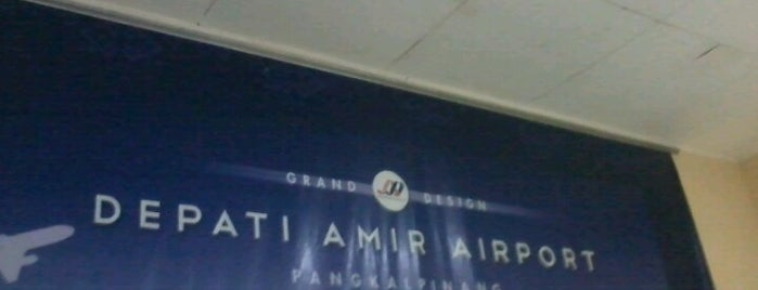 Depati Amir Airport (PGK) is one of Airport in Indonesia.