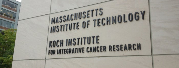 MIT Koch Institute for Integrative Cancer Research (Building 76) is one of MASSACHUSETTS STATE - UNITED STATES OF AMERICA.