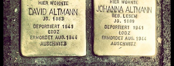 2 Stolpersteine Altmann is one of Stolpersteine 1933 - 1945.