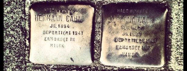2 Stolpersteine Cahn is one of Stolpersteine 1933 - 1945.