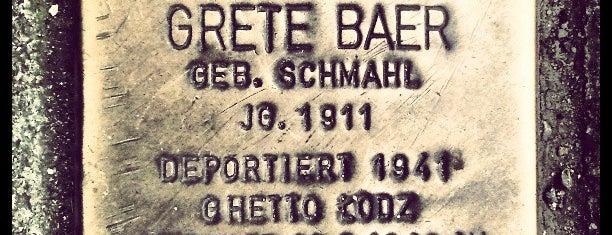 Stolperstein Grete Baer is one of Stolpersteine 1933 - 1945.
