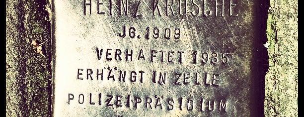 Stolperstein Heinz Krösche is one of Stolpersteine 1933 - 1945.