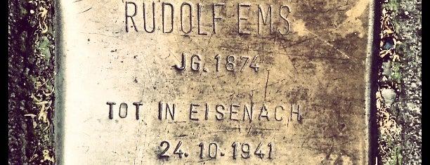 Stolperstein Rudolf Ems is one of Stolpersteine 1933 - 1945.