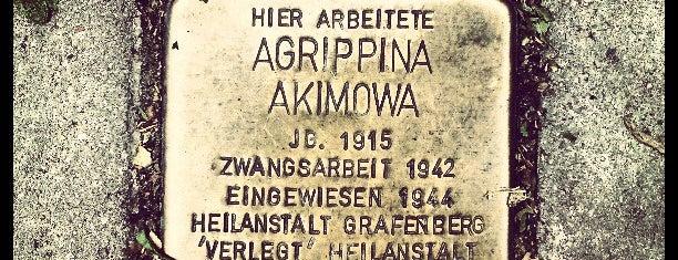 Stolperstein Agrippina Akimowa is one of Stolpersteine 1933 - 1945.