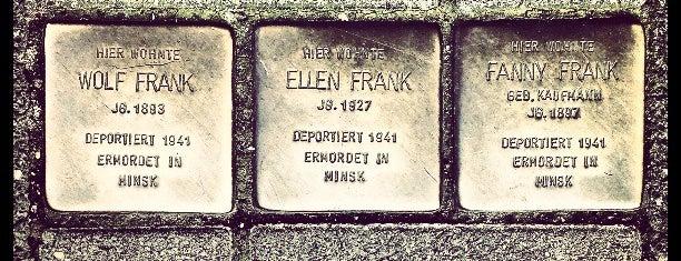 3 Stolpersteine Frank is one of Stolpersteine 1933 - 1945.