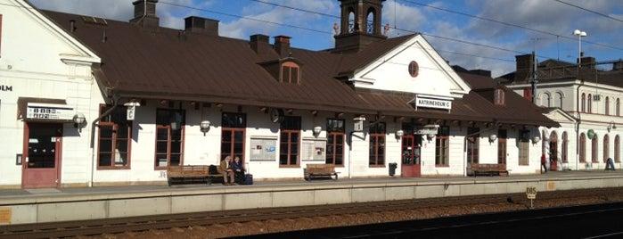 Katrineholm Centralstation is one of Tågstationer - Sverige.