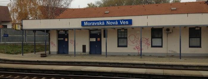 Železniční stanice Moravská Nová Ves is one of Železniční stanice ČR: M (7/14).