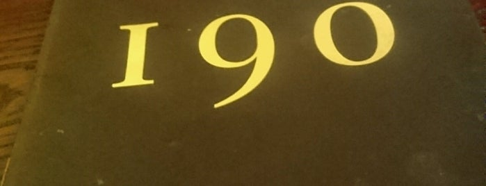 Bar 190 is one of London bars.