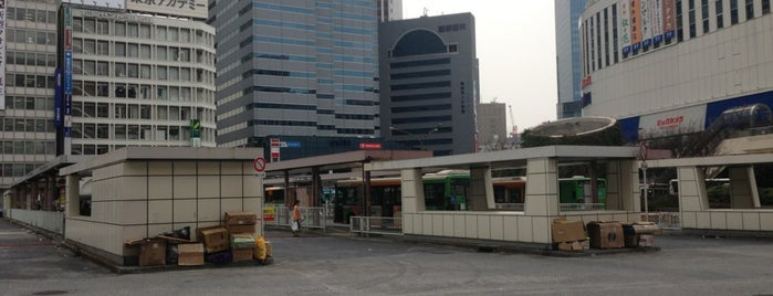 Shinjuku Sta. West Exit Bus Terminal is one of 新宿駅.