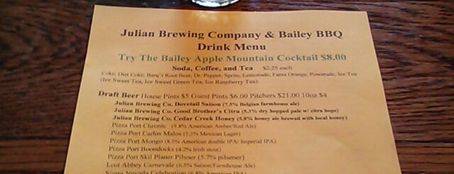 Julian Brewing Company is one of SD Breweries.