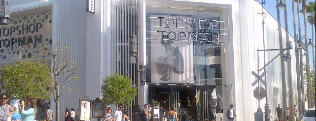 Topshop Topman is one of SoCal Shops, Art, Attractions.