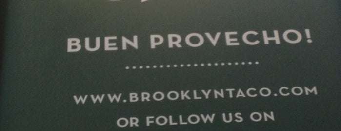 Brooklyn Taco Company is one of New York March '14.