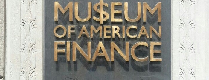 Museum of American Finance is one of New York City.