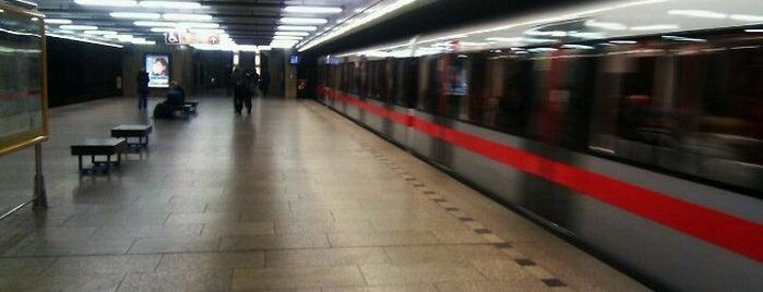 Metro =C= Vltavská is one of Metro C.