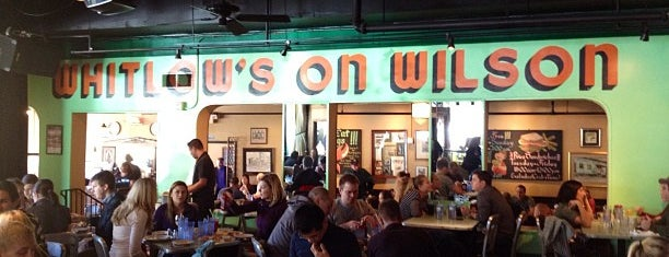 Whitlow's on Wilson is one of dc drinks + food + coffee.
