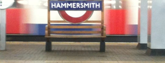 Hammersmith London Underground Station (District and Piccadilly lines) is one of District Line.