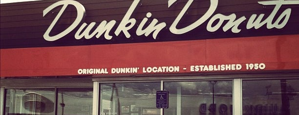 Dunkin Donuts is one of Quincy- City of Presidents.