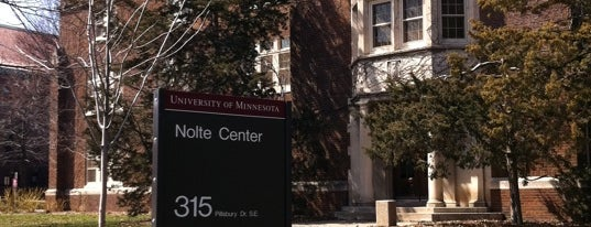 Nolte Center For Continuing Education is one of Favorite Spots to Study on the U of M Campus.