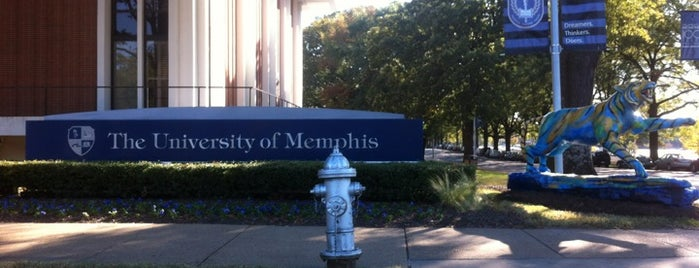 University of Memphis is one of College Love - Which will we visit Fall 2012.