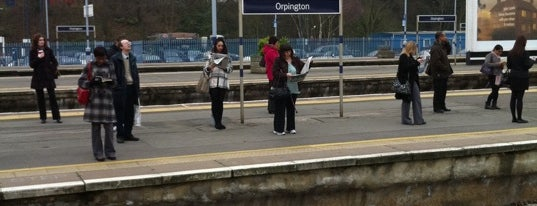 Orpington Railway Station (ORP) is one of Train stations.