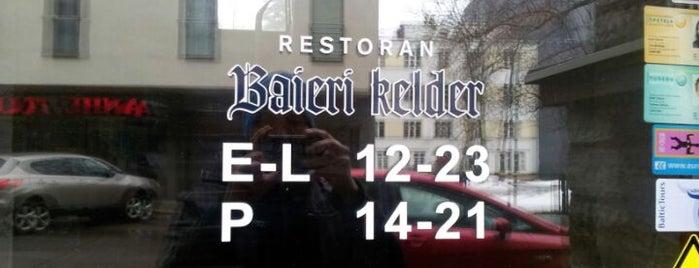 Baieri kelder Restaurant is one of The Barman's bars in Tallinn.