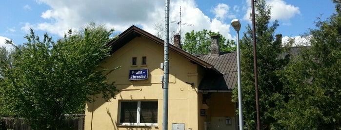 Železniční stanice Praha-Zbraslav is one of Železniční stanice ČR: P (9/14).