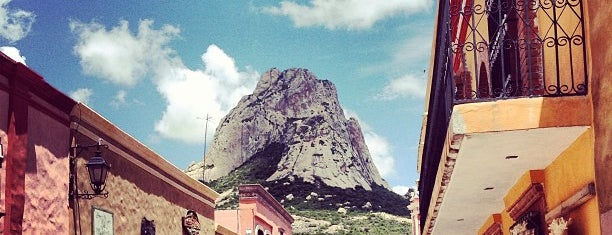 Peña de Bernal is one of Ruta queso y vino Qro..