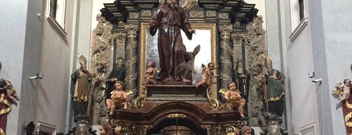 Kostel Narození sv. Jana Křtitele a jeskyně sv. Ivana is one of Doly, lomy, jeskyně (CZ).
