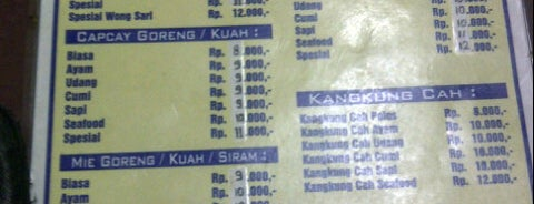 Wong Sari Chinese Food is one of Bandung Kuliner.