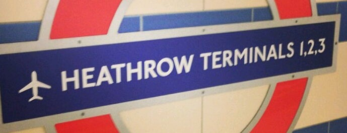 Heathrow Airport Terminals 2 & 3 London Underground Station is one of Tube Challenge.