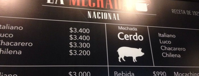 La Mechada Nacional is one of Sandwiches.
