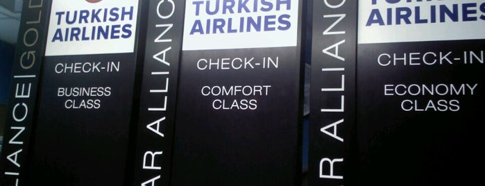Check-in Turkish Airlines is one of Aeroporto de Guarulhos (GRU Airport).