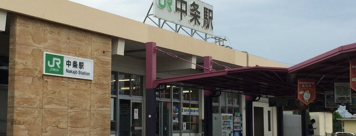 Nakajo Station is one of 羽越本線.