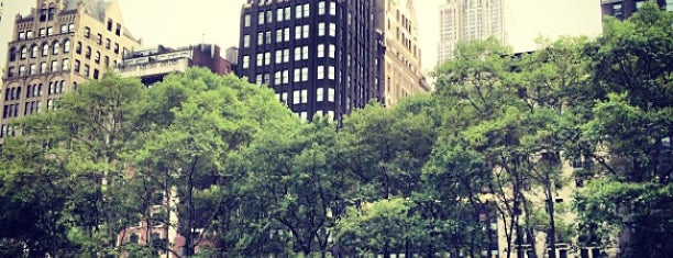 Bryant Park is one of Favorite Great Outdoors.