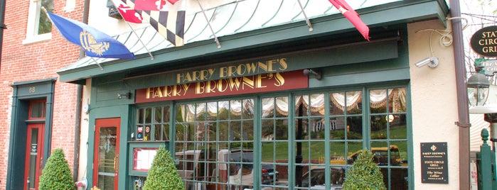 Harry Browne's is one of Baltimore Sun's 100 Best Restaurants (2012).