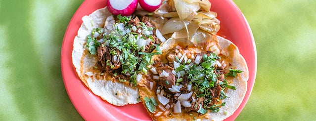 Taqueria El Rey Del Taco is one of Atlanta's 24 Most Iconic Dishes.