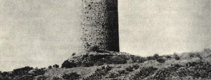 Torre Nueva de la Cala del Moral o Torre Pesetas is one of Torres Almenaras en el Litoral de Andalucía.