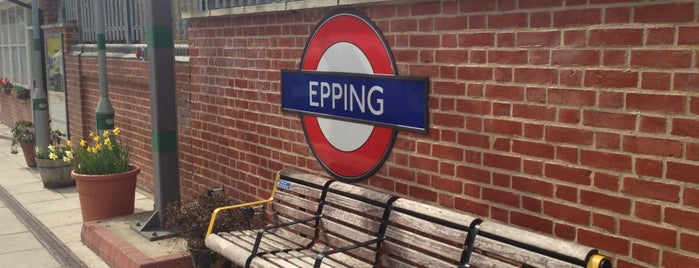 Epping London Underground Station is one of Tube Challenge.