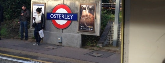 Osterley London Underground Station is one of Tube Challenge.