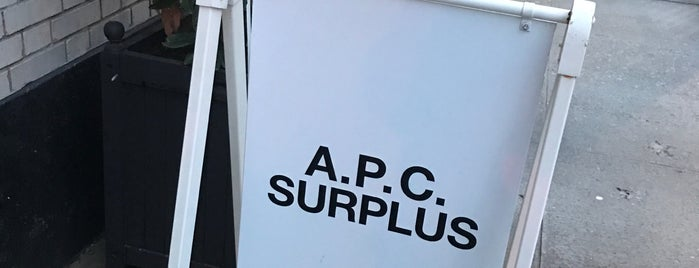 A.P.C. Surplus is one of New-York.